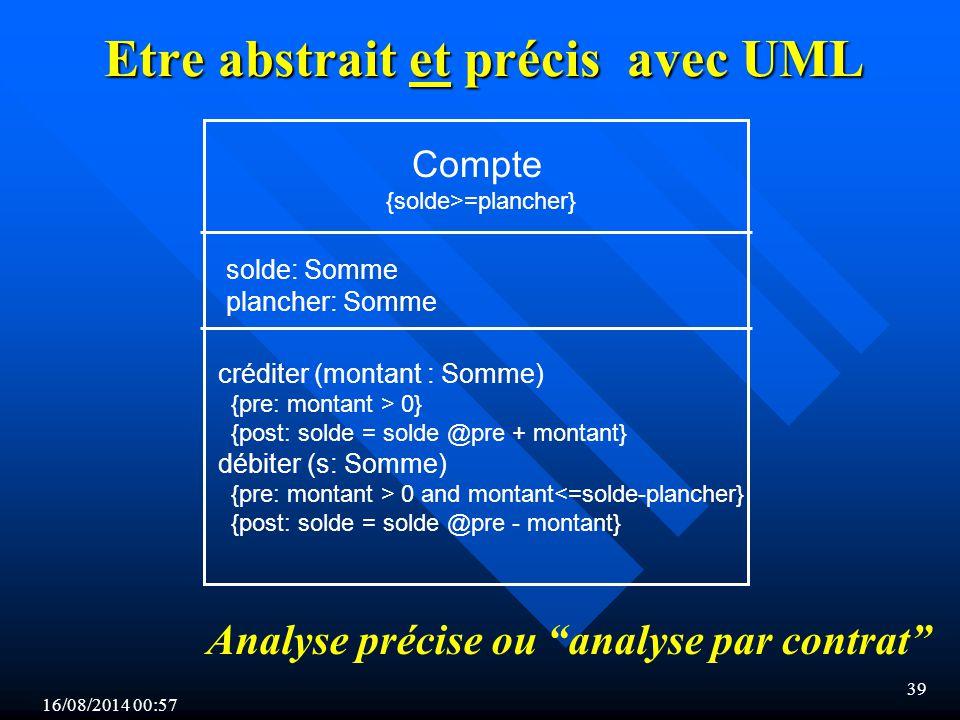 Etre abstrait et précis avec UML