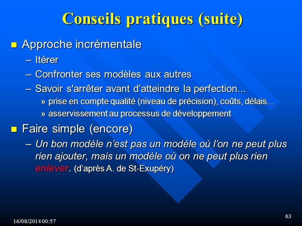 Conseils pratiques (suite)