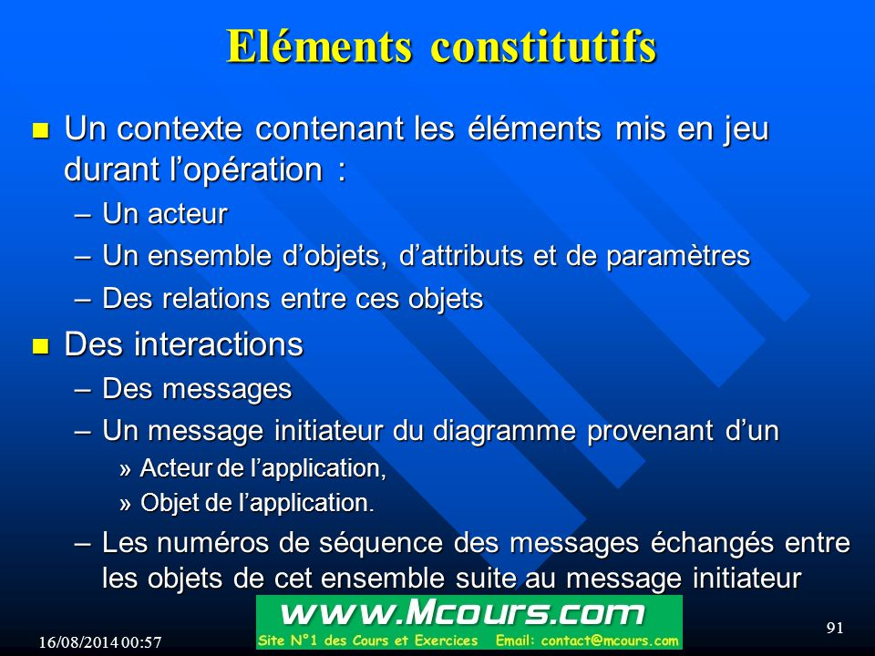 Eléments constitutifs