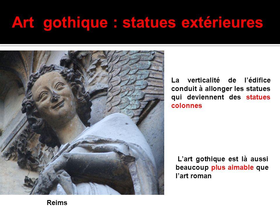 Art gothique : statues extérieures