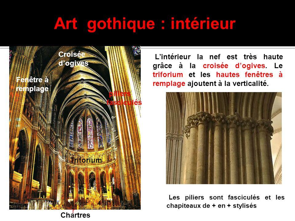 Art gothique : intérieur