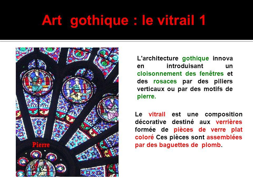 Art gothique : le vitrail 1