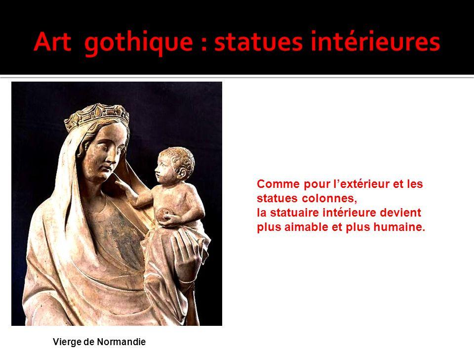 Art gothique : statues intérieures