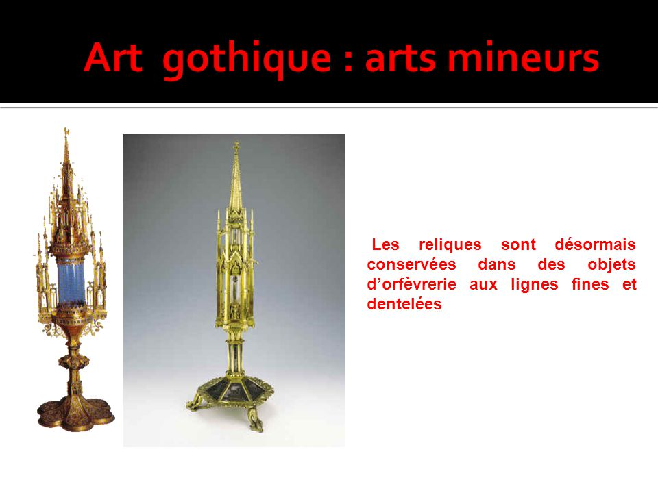 Art gothique : arts mineurs