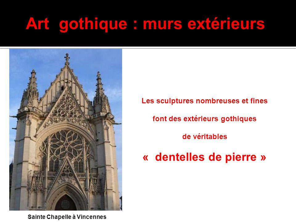 Art gothique : murs extérieurs