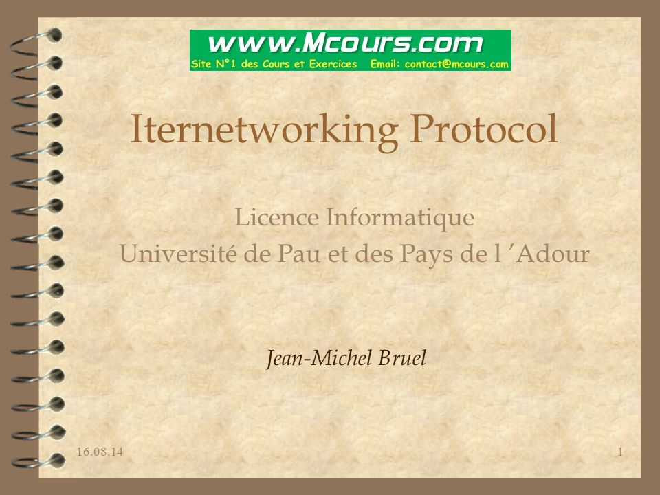 Iternetworking Protocol