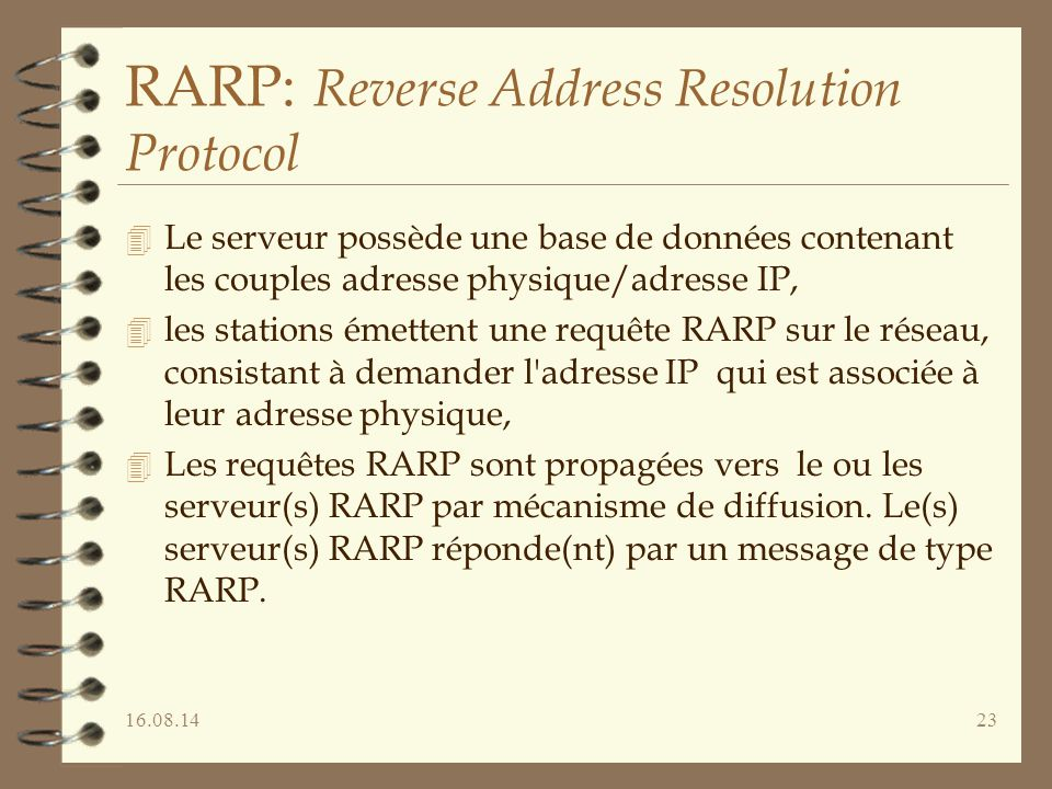 RARP: Reverse Address Resolution Protocol