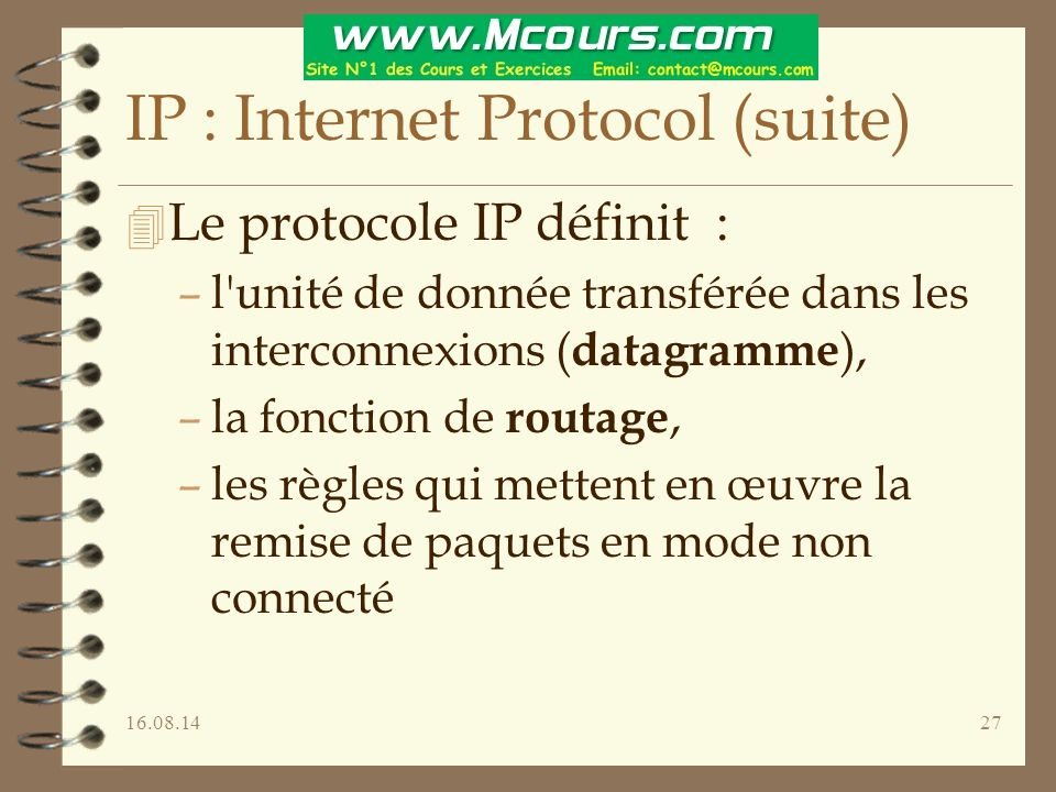 IP : Internet Protocol (suite)
