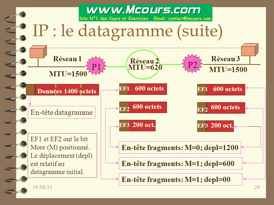 IP : le datagramme (suite)