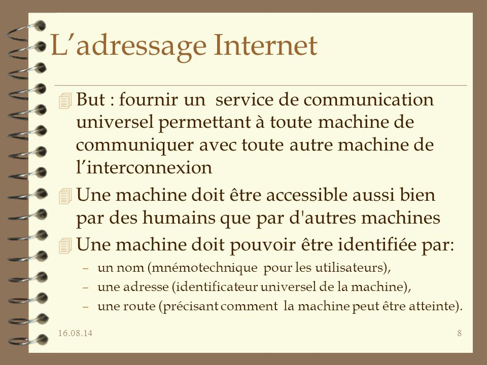 L'adressage Internet