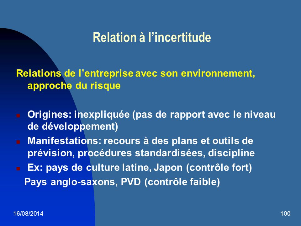 Relation à l'incertitude
