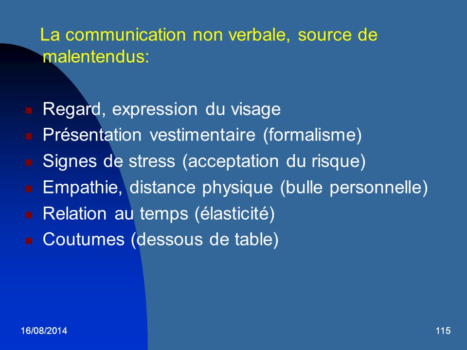 La communication non verbale, source de malentendus: