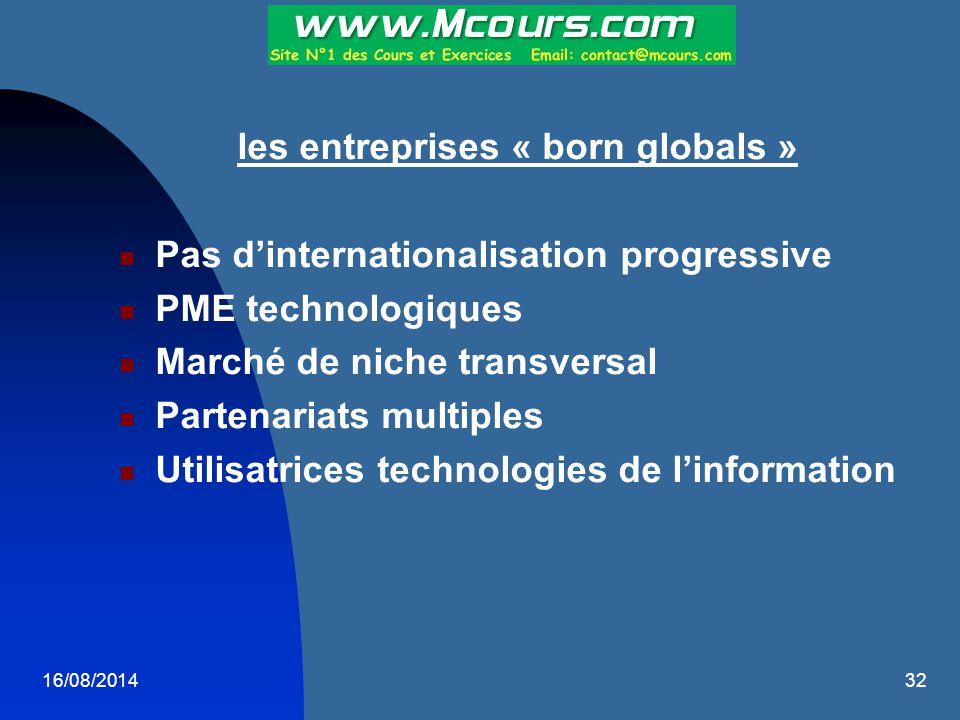 les entreprises « born globals »