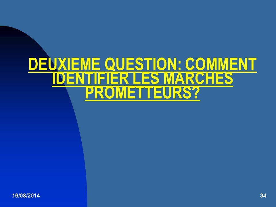 DEUXIEME QUESTION: COMMENT IDENTIFIER LES MARCHES PROMETTEURS