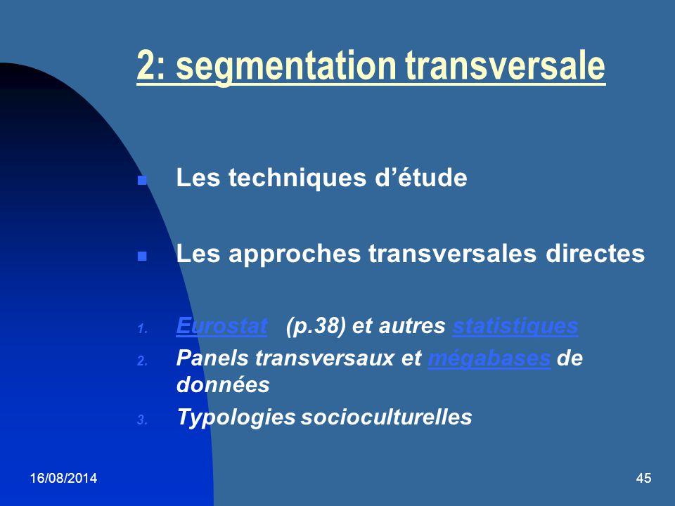 2: segmentation transversale