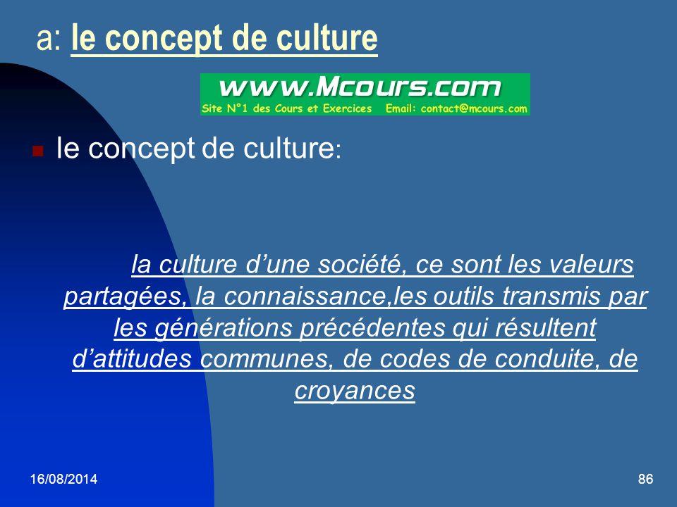 a: le concept de culture