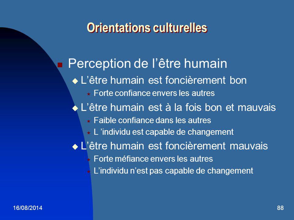 Orientations culturelles