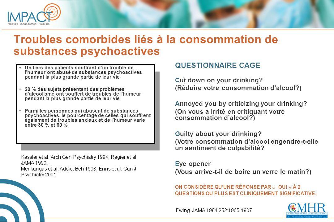 Troubles comorbides liés à la consommation de substances psychoactives