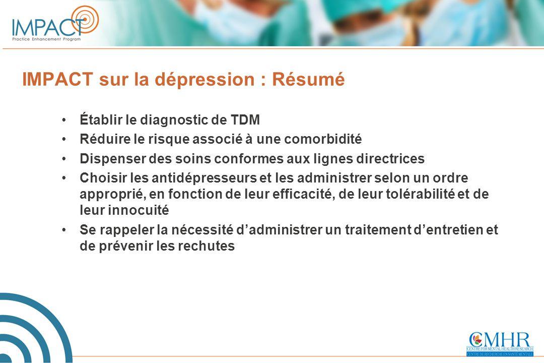 IMPACT sur la dépression : Résumé