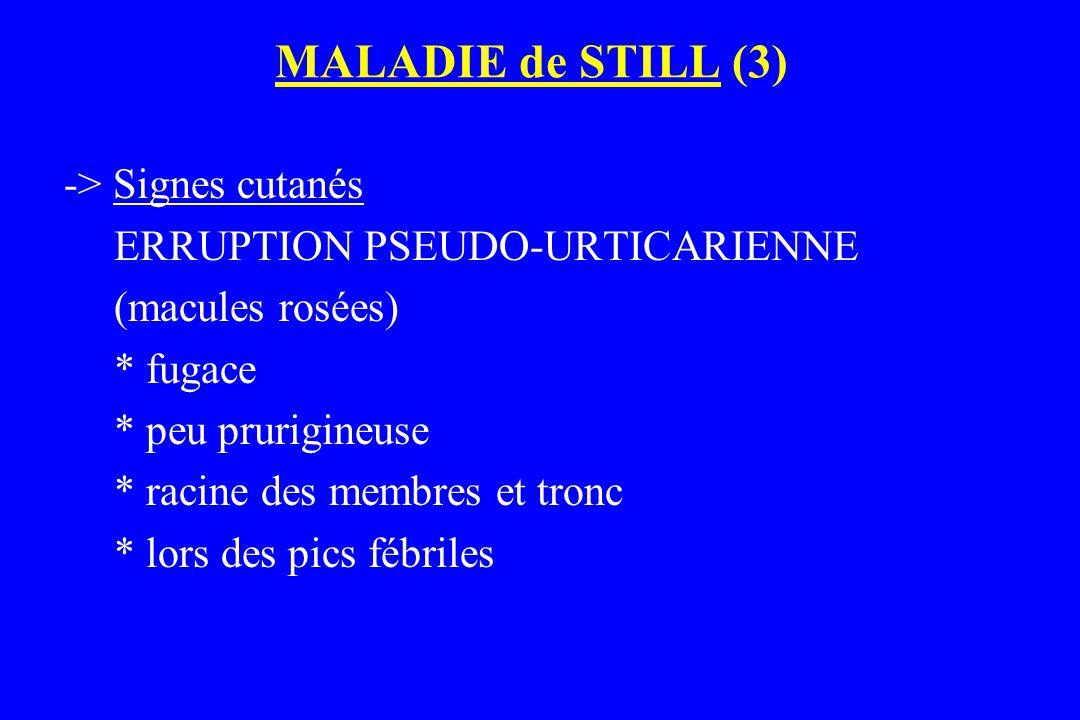 MALADIE de STILL (3) -> Signes cutanés