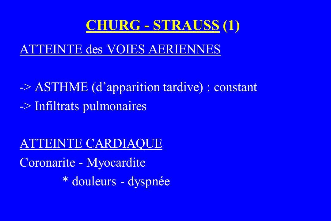 CHURG - STRAUSS (1) ATTEINTE des VOIES AERIENNES