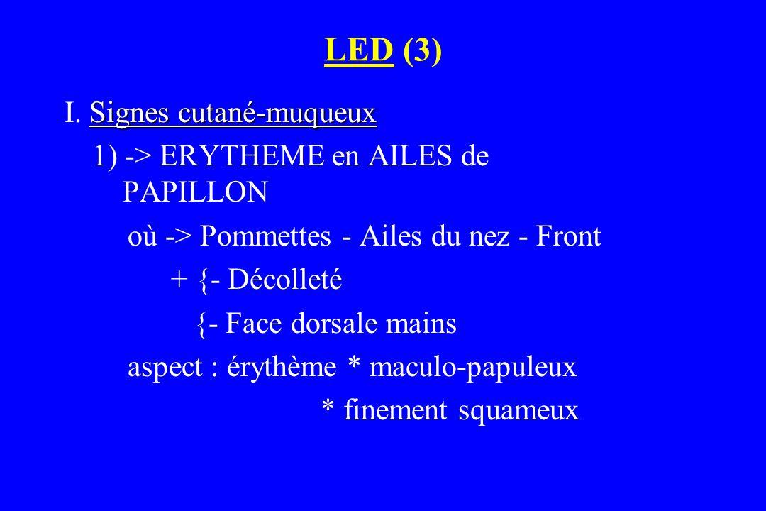 LED (3) I. Signes cutané-muqueux