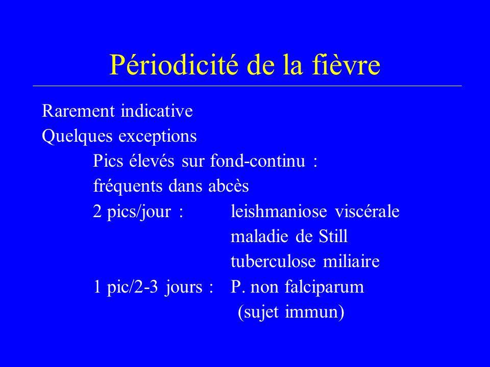 Périodicité de la fièvre