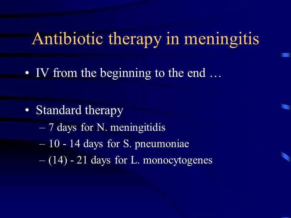 Antibiotic therapy in meningitis