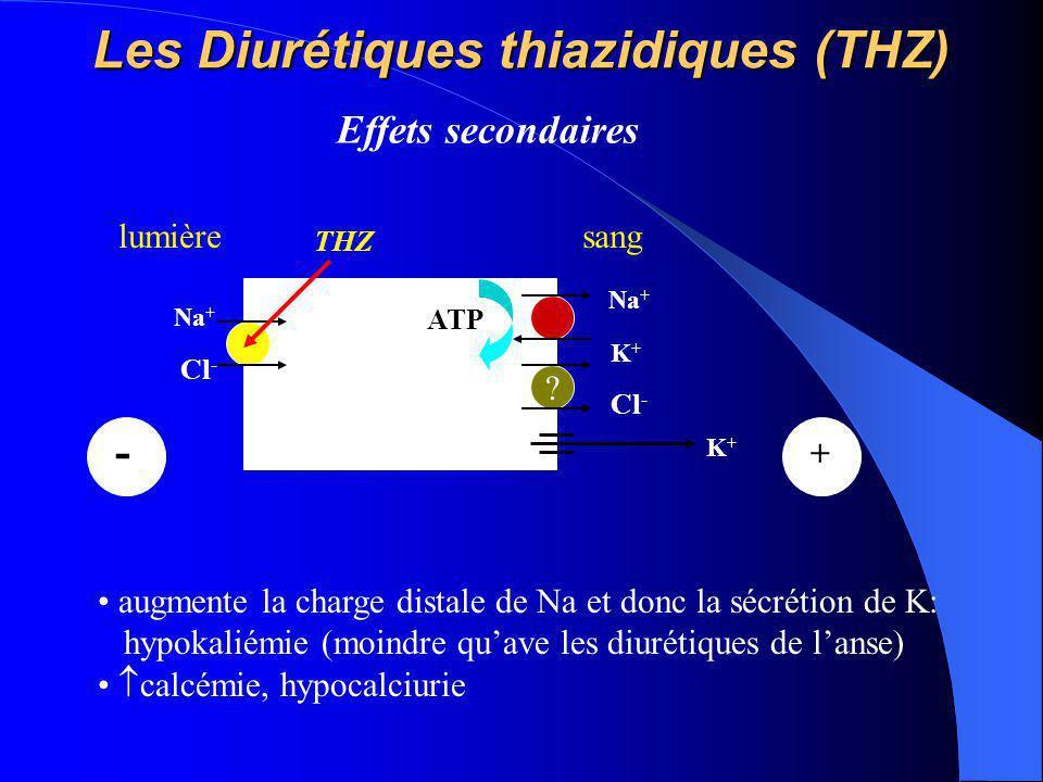 Les Diurétiques thiazidiques (THZ)