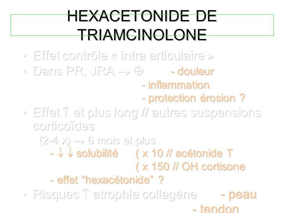 HEXACETONIDE DE TRIAMCINOLONE