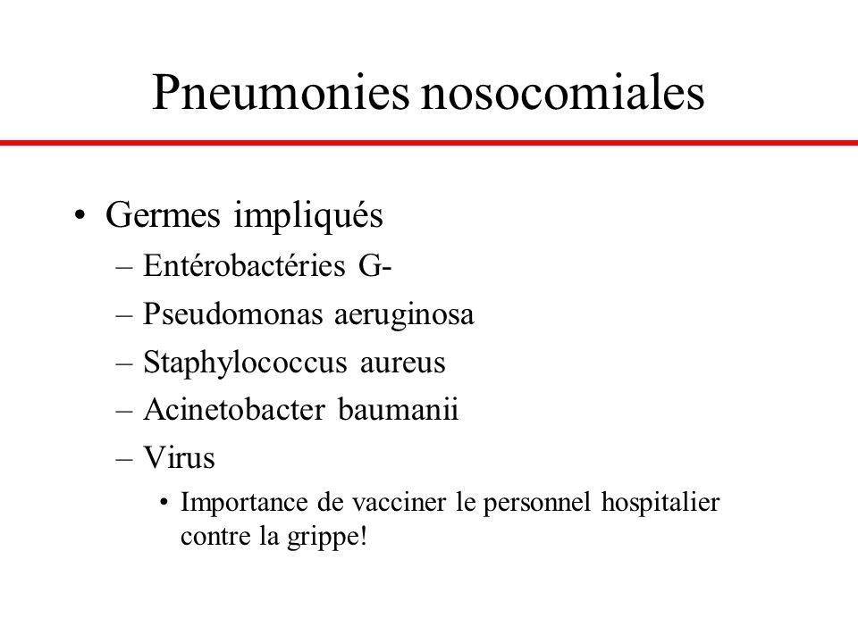 Pneumonies nosocomiales