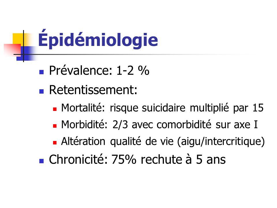 Épidémiologie Prévalence: 1-2 % Retentissement: