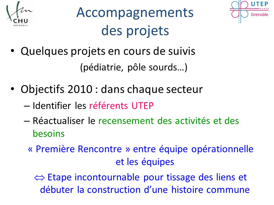 Accompagnements des projets