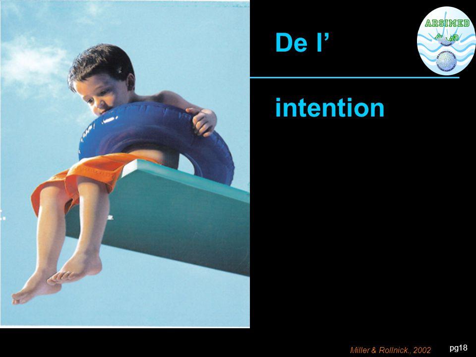 De l' intention Miller & Rollnick., 2002