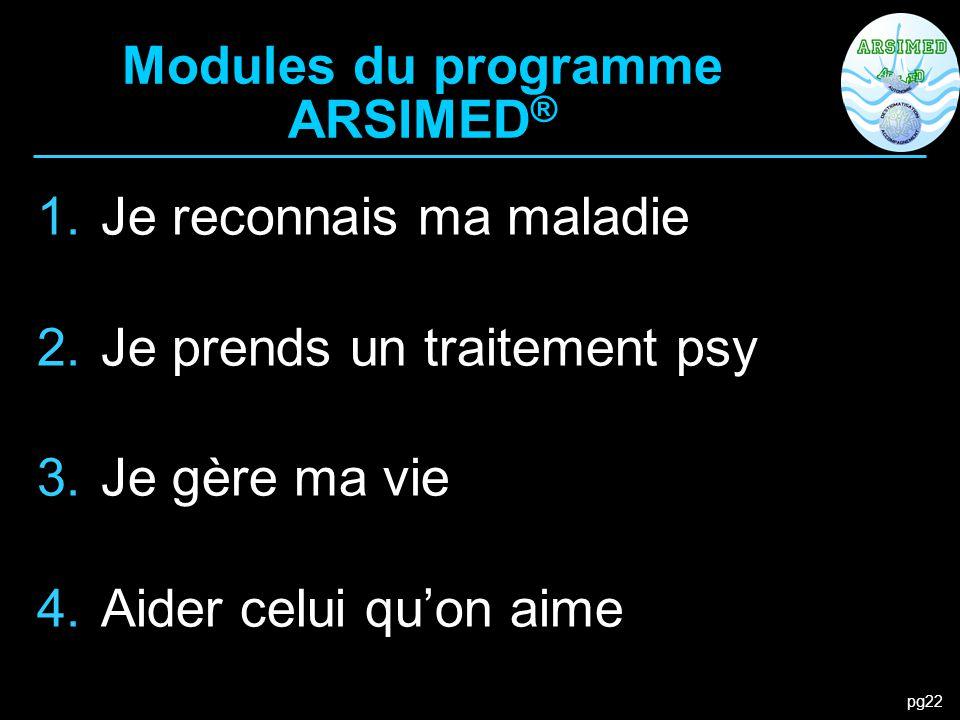 Modules du programme ARSIMED®