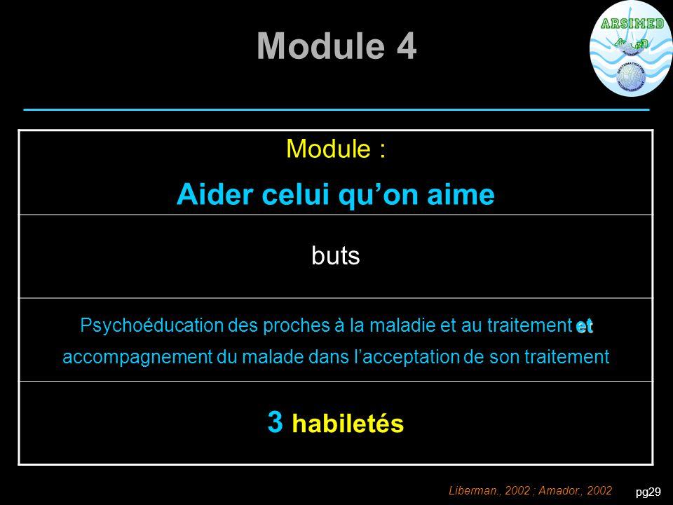 Module 4 Aider celui qu'on aime 3 habiletés Module : buts
