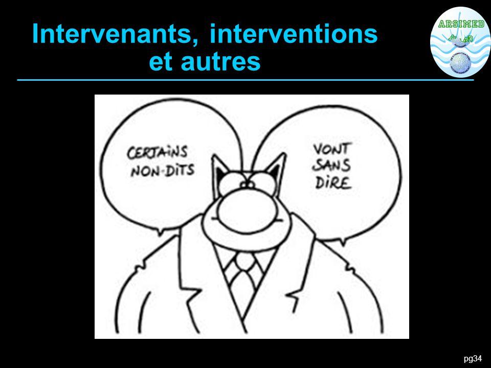 Intervenants, interventions et autres