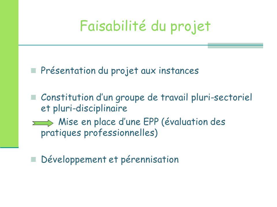 Faisabilité du projet Présentation du projet aux instances