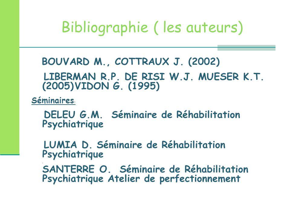 Bibliographie ( les auteurs)