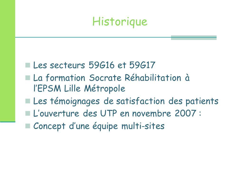 Historique Les secteurs 59G16 et 59G17