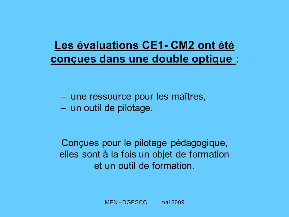 Les évaluations CE1- CM2 ont été