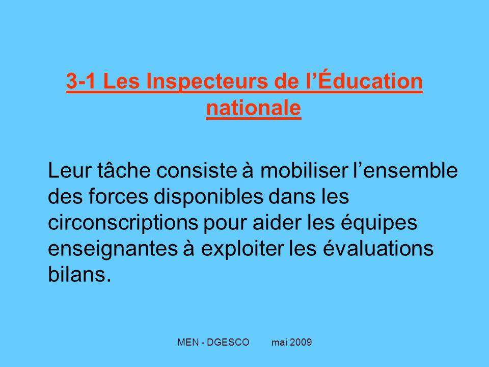 3-1 Les Inspecteurs de l'Éducation nationale