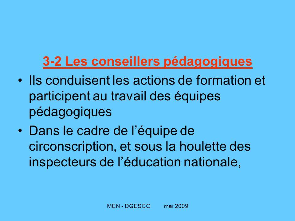 3-2 Les conseillers pédagogiques