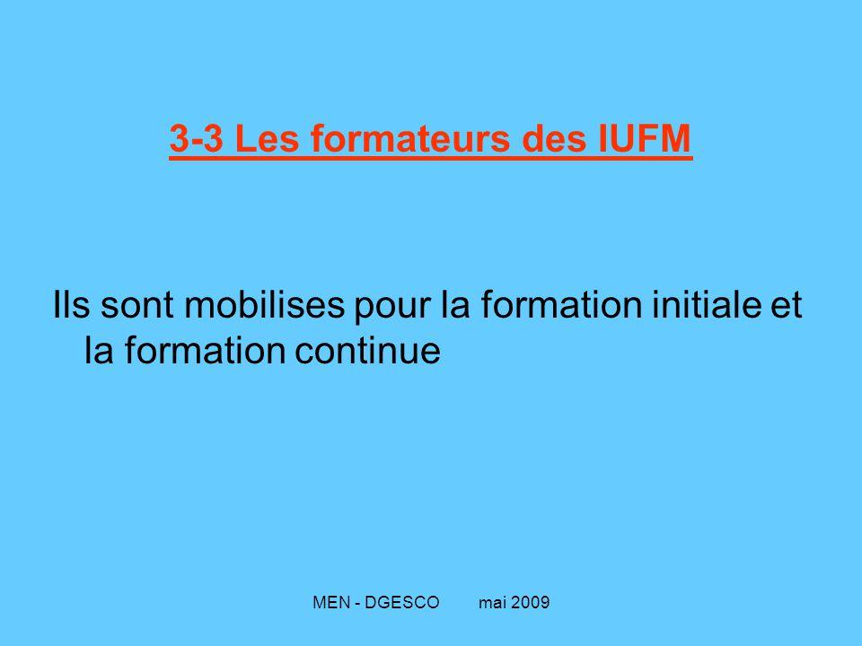 3-3 Les formateurs des IUFM