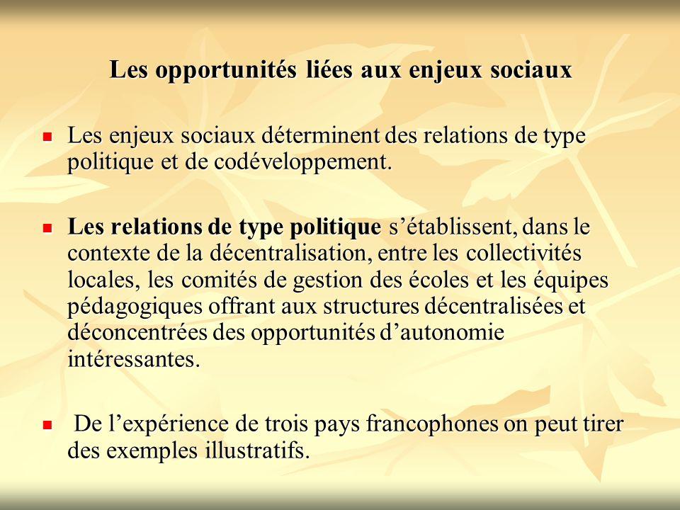 Les opportunités liées aux enjeux sociaux
