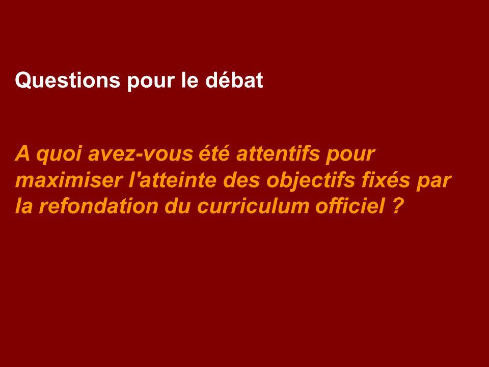 Questions pour le débat