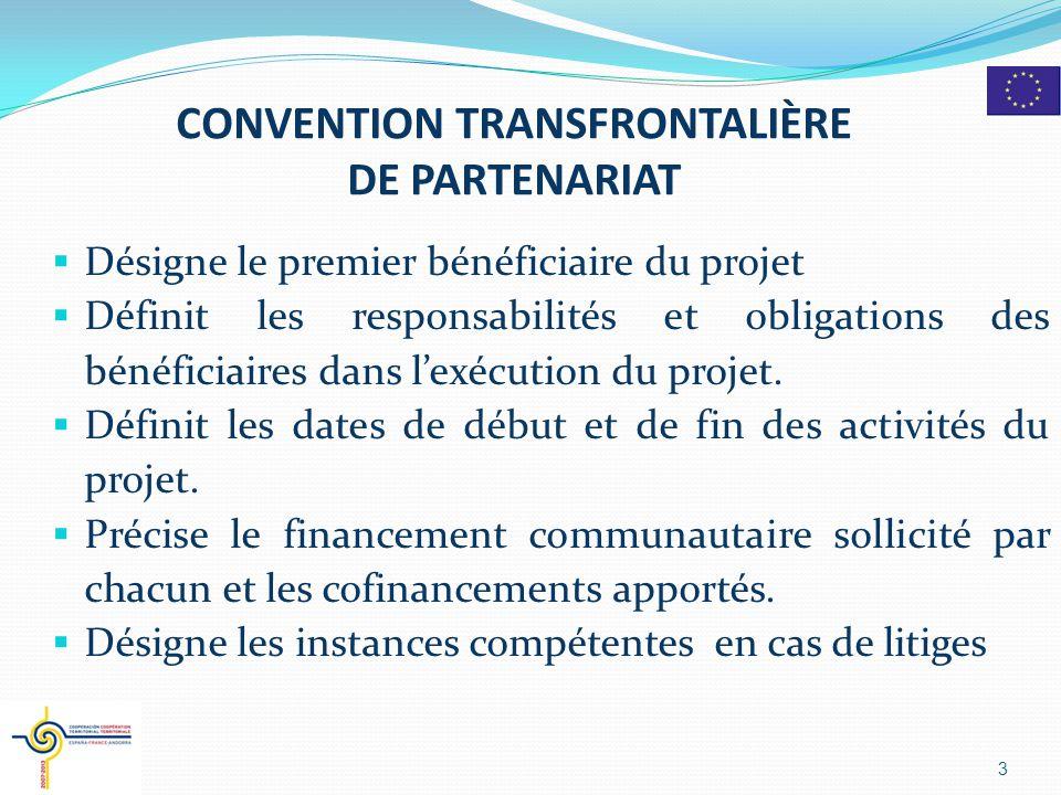 CONVENTION TRANSFRONTALIÈRE DE PARTENARIAT