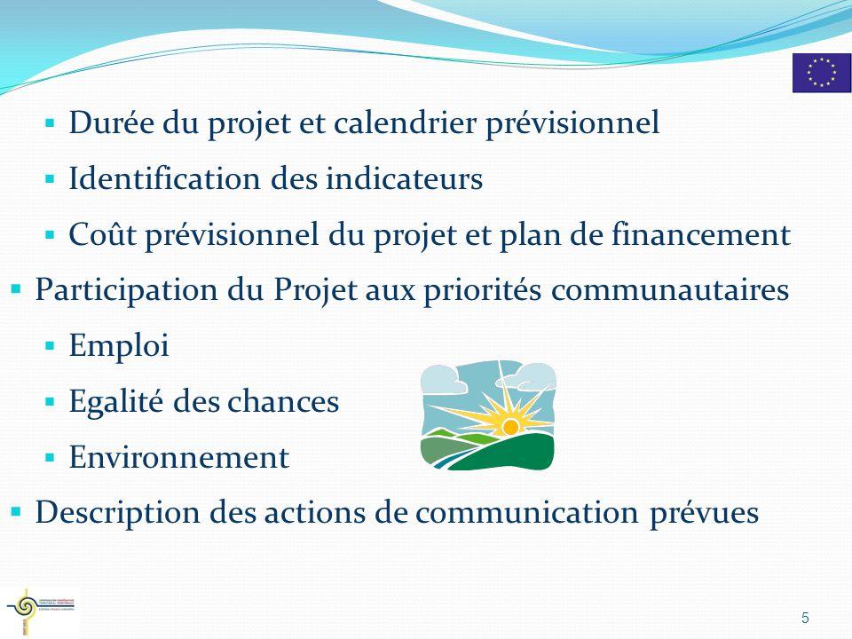 Durée du projet et calendrier prévisionnel