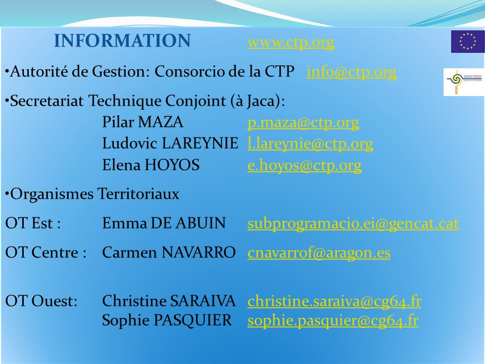 INFORMATION www.ctp.org