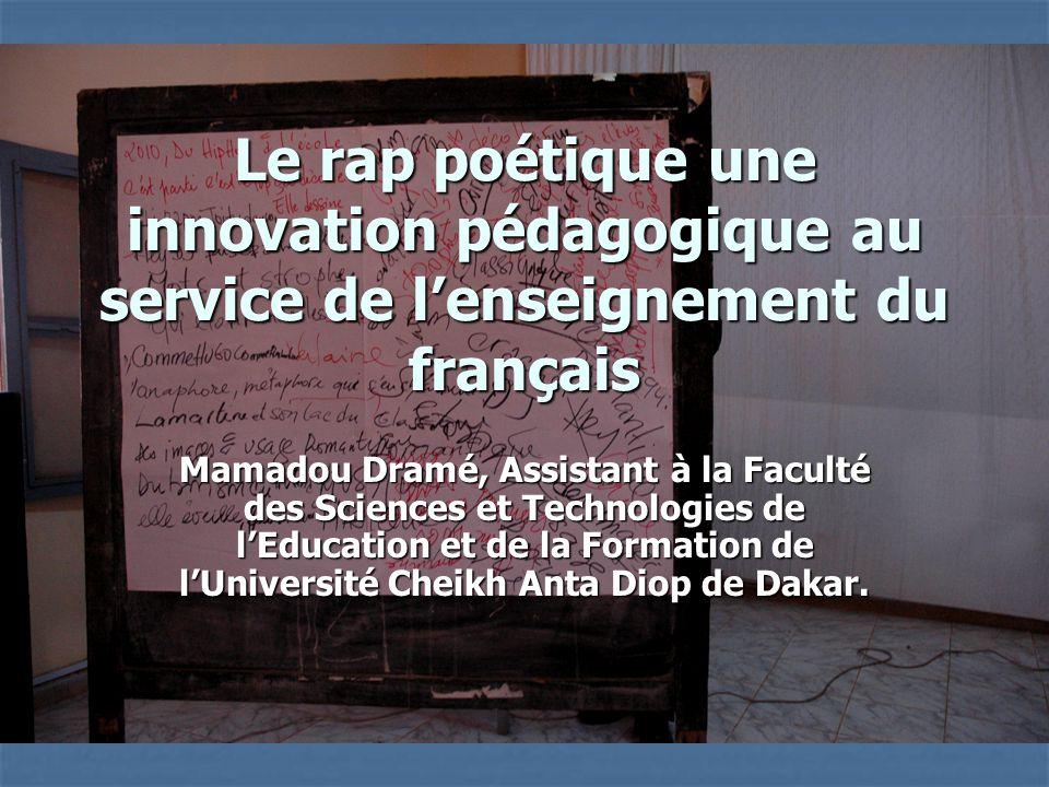 Le rap poétique une innovation pédagogique au service de l'enseignement du français
